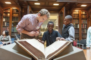 Penn Libraries Hosts Treasure Hunt for Sixty Fifth-Grade Students in the Kislak Center for Special Collections, Rare Books and Manuscripts