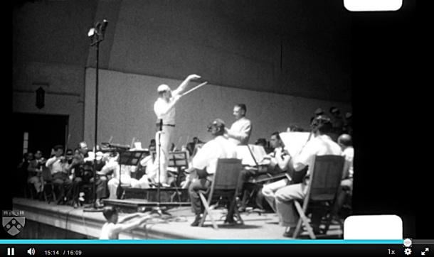 Ormandy conducting the Philadelphia Orchestra