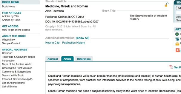 Encyclopedia of Ancient History Online | Penn Libraries News Center