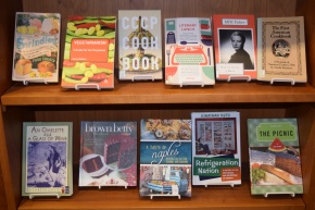 May's Tasty Featured Books Display at Van Pelt-Dietrich LibraryCenter