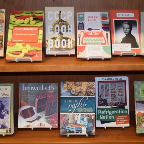 May's Tasty Featured Books Display at Van Pelt-Dietrich Library Center